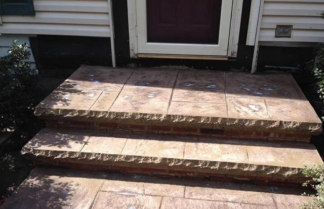 Stamped Concrete Entry Stairs