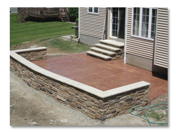 Residential Patio and Retaining Wall